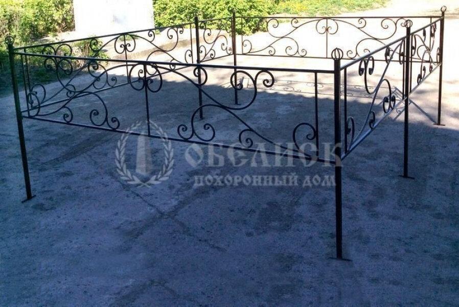 Металлическая ограда №1