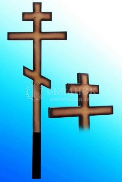 """Крест сосна """"Лак темный"""""""