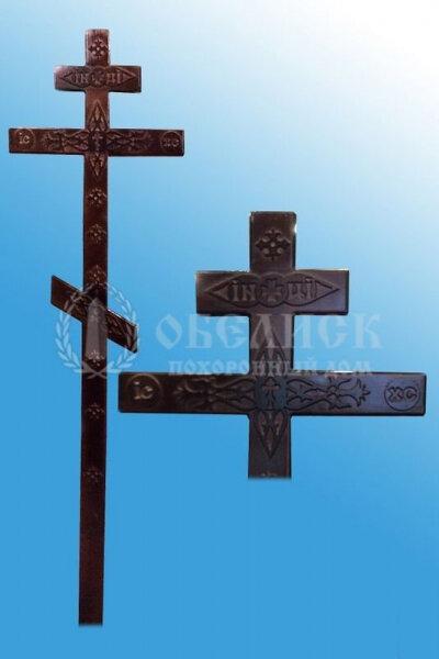 """Крест сосна """"Прямой с декором"""""""