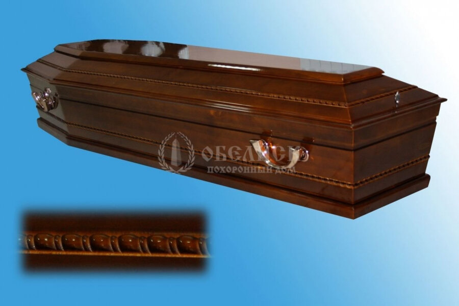 Гроб полированный (1 крышка) №2