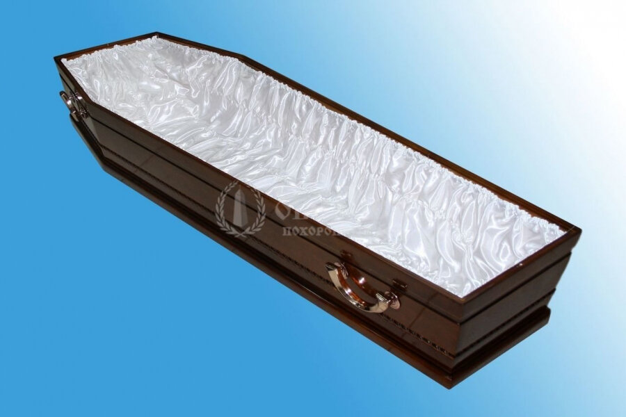 Гроб полированный (1 крышка) №3