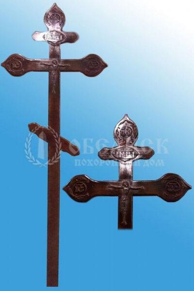 """Крест сосна """"Ажурный с декором"""""""