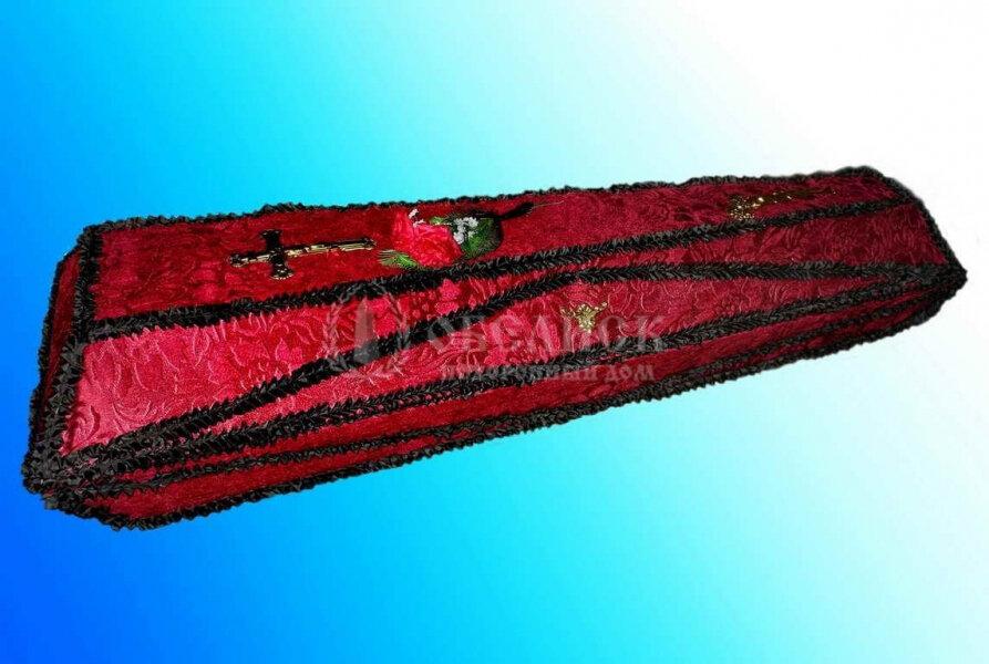 Гроб бордовый велюр