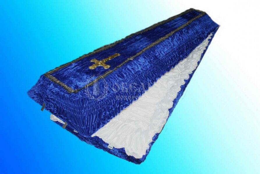 Гроб синий бархат