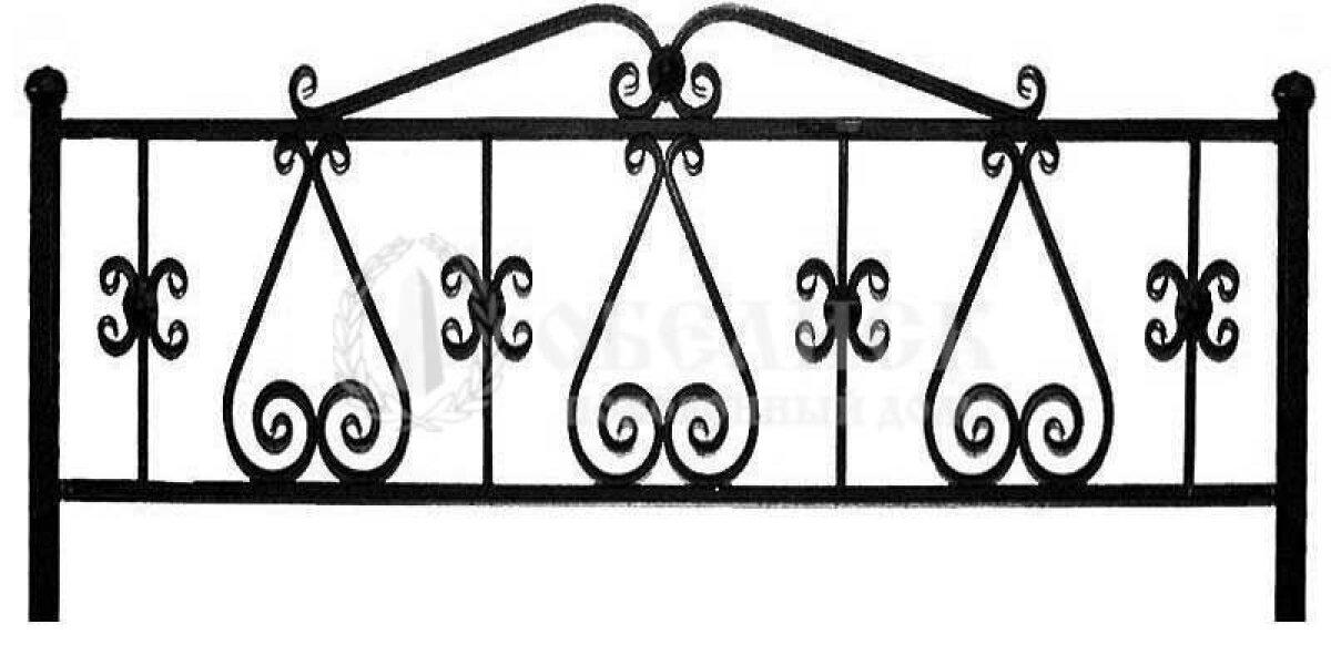 Ограда на могилу кованная №16