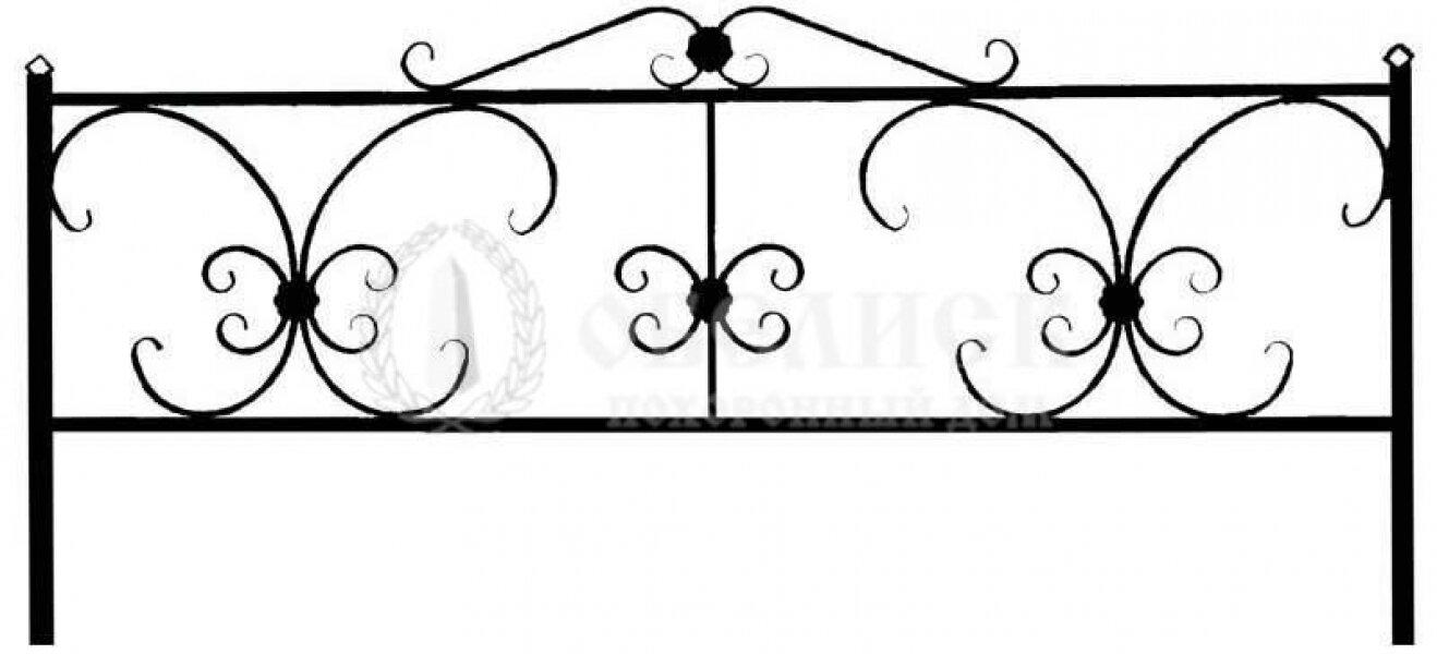 Ограда на могилу кованная №17