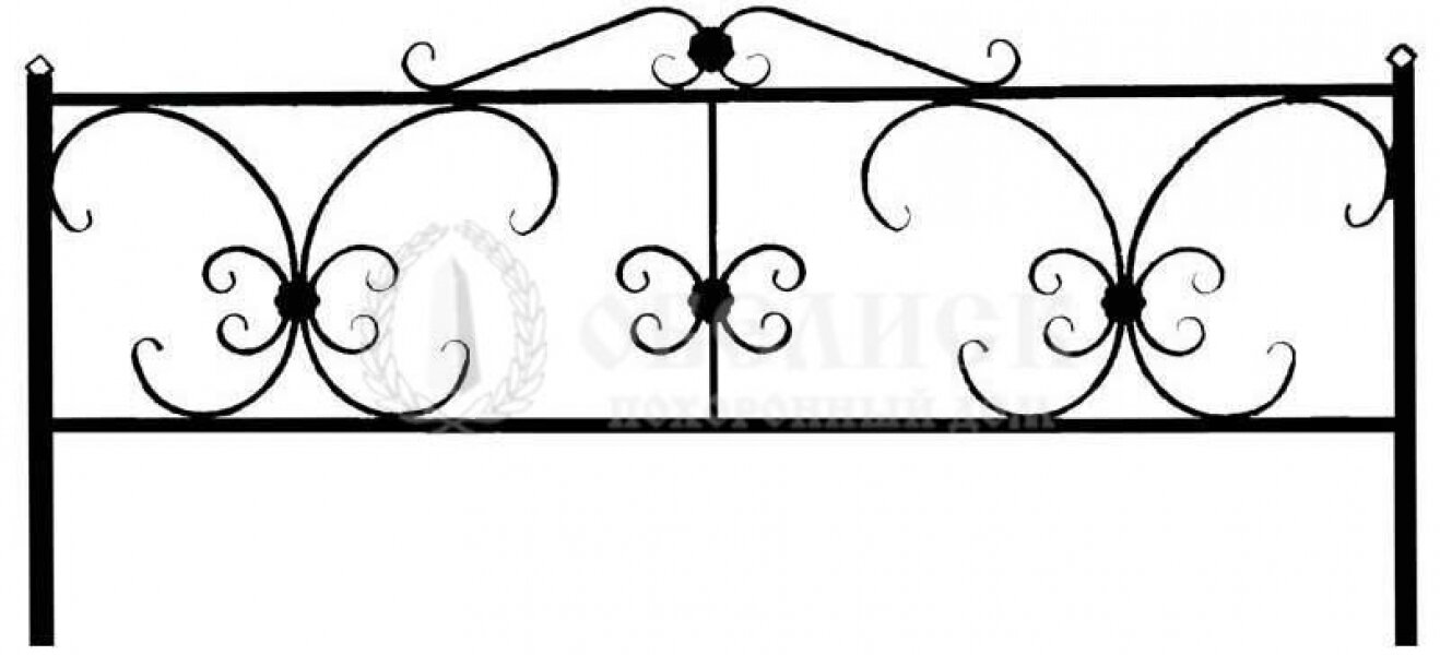 Ограда на могилу кованная №18