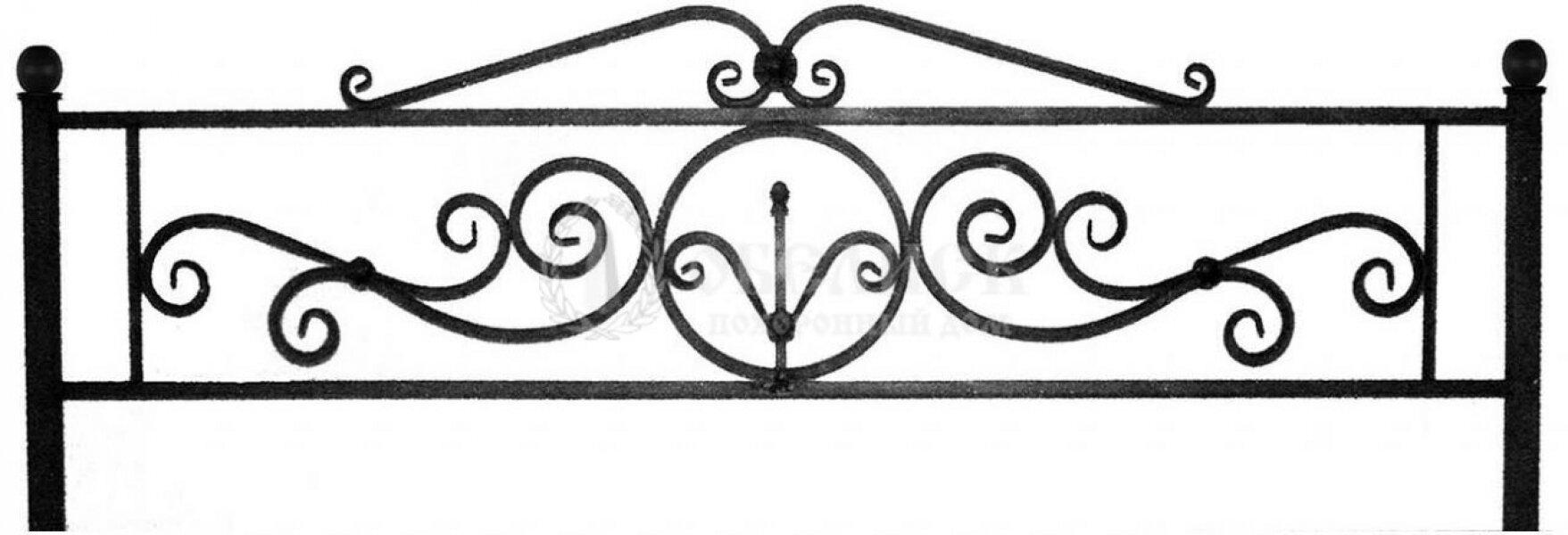 Ограда на могилу кованная №20