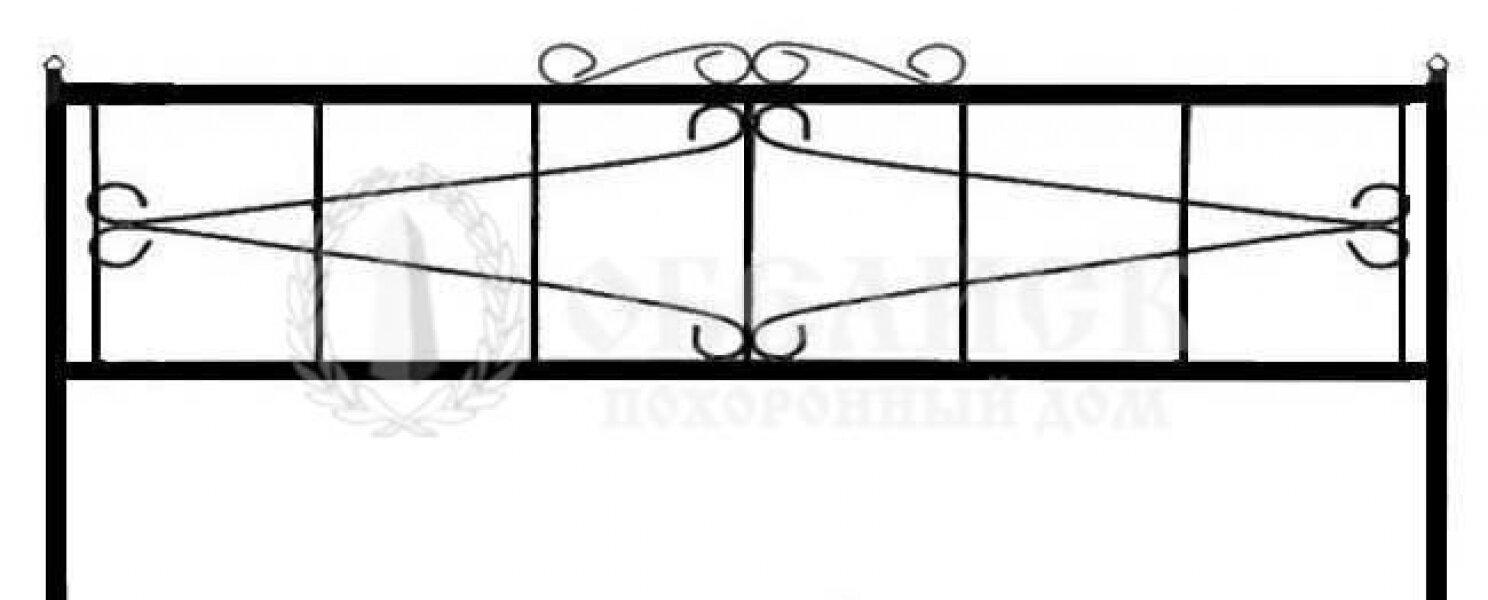 Ограда на могилу кованная №8
