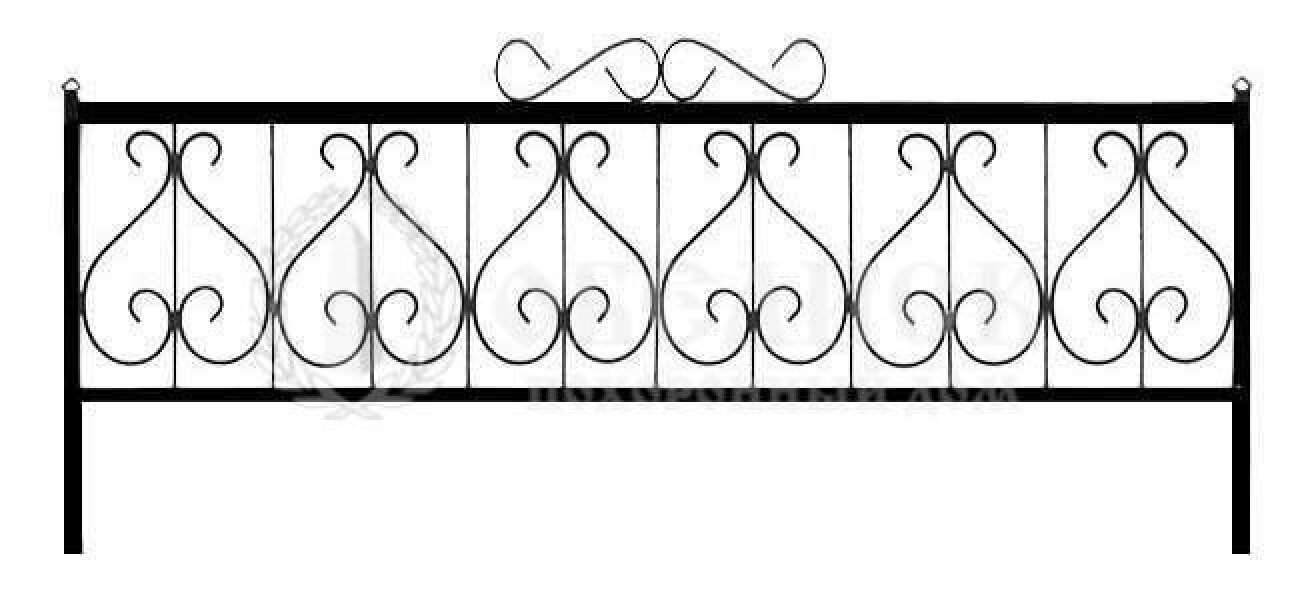 Ограда на могилу кованная №9