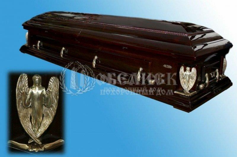 Гроб полированный (2 крышки) №5