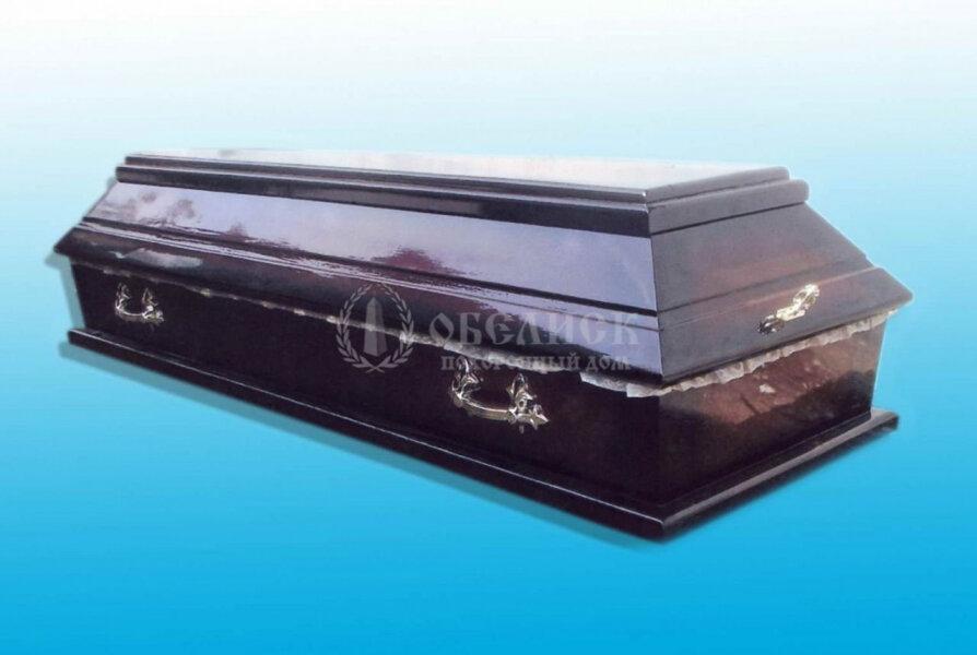 Гроб полированный (1 крышка) №4