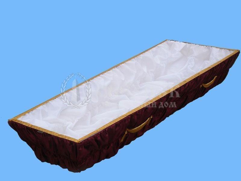 Гроб светло-сиреневый атлас