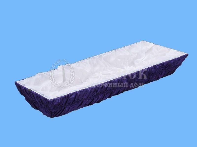 Гроб сиреневый атлас