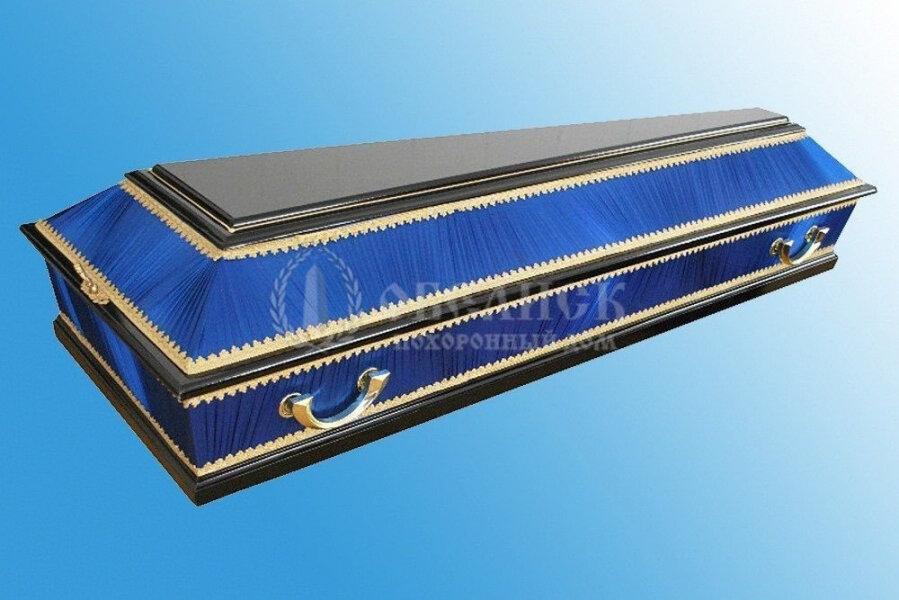 Комбинированный гроб синий