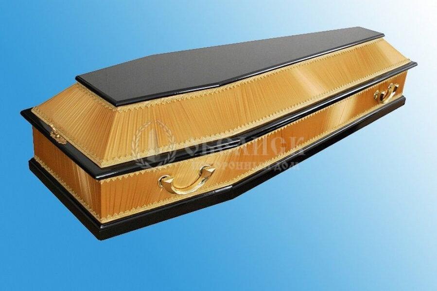 Комбинированный гроб золото с черным