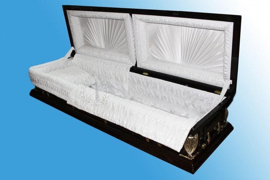 Гроб полированный (2 крышки) №7