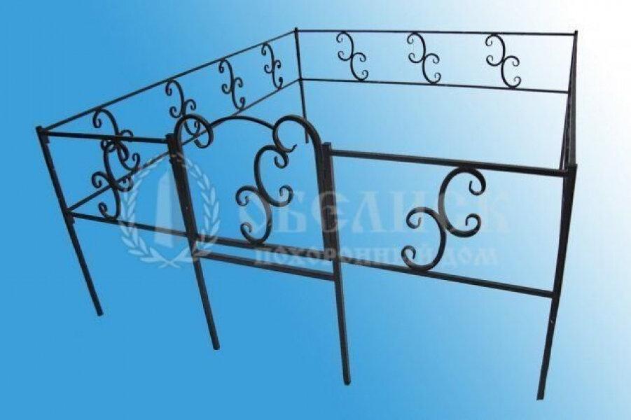 Ограда на могилу (холодная ковка) №5
