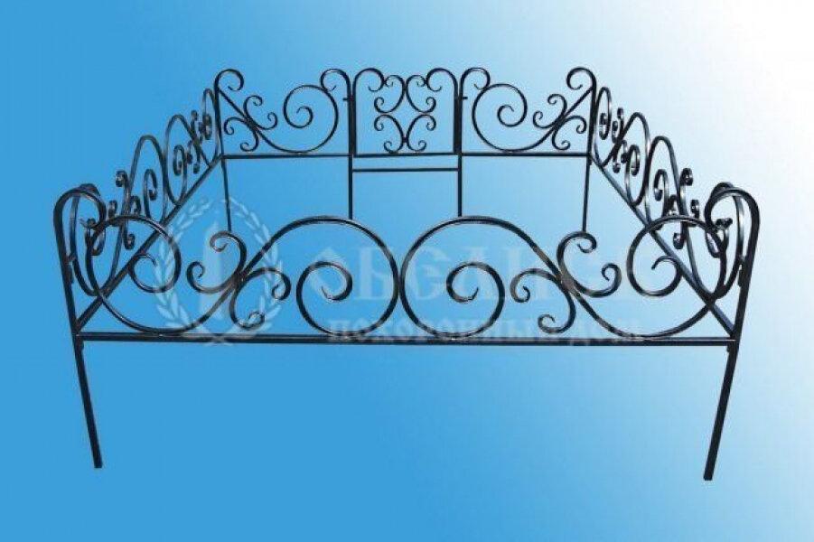 Ограда на могилу (холодная ковка) №6
