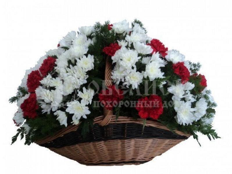 Траурная корзина с цветами (корзина) №2