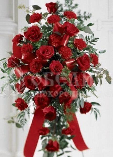 Цветы, гирлянды для возложения (букет) №12