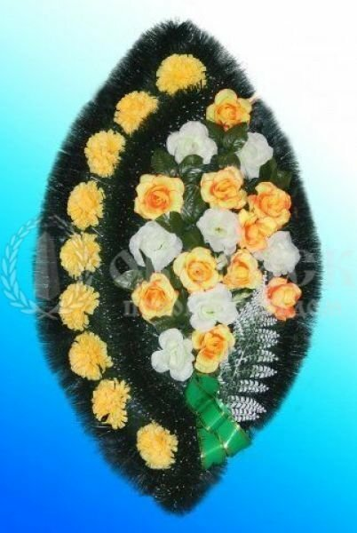 Венок из искусственных цветов №5