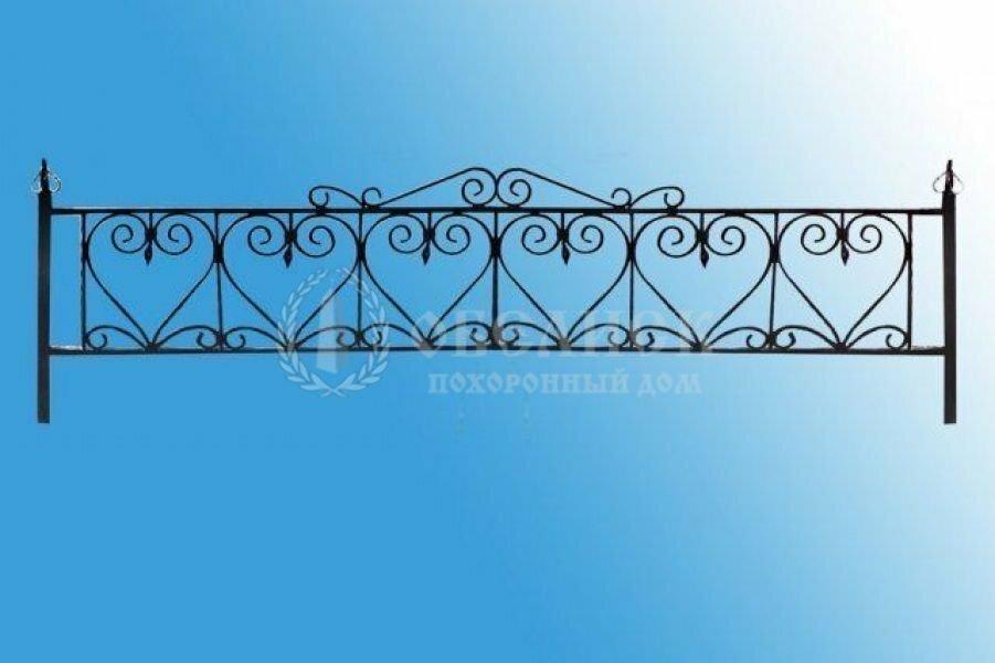 Ограда на могилу кованная №4