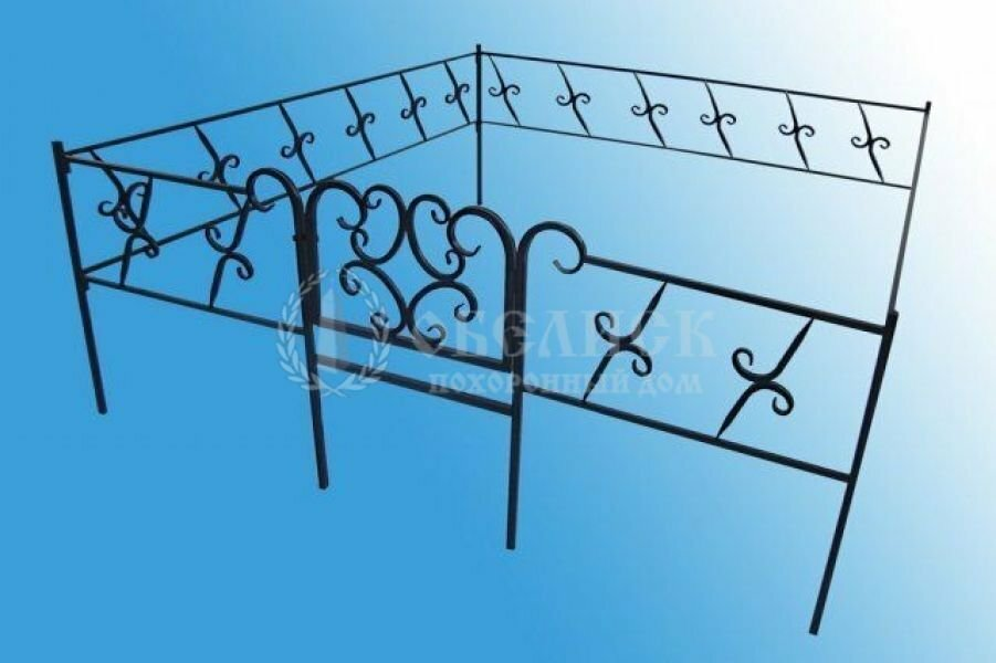 Ограда на могилу (холодная ковка) №1