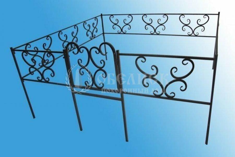 Ограда на могилу (холодная ковка) №3