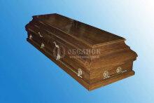 Гроб полированный дубовый (2 крышки) №10