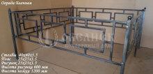 Металлическая ограда Блочная