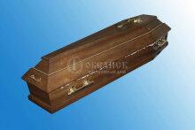 Гроб полированный дубовый (1 крышка) №5