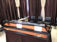 Гроб полированный коричневый Кавид №21