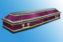 Комбинированный гроб сиреневый