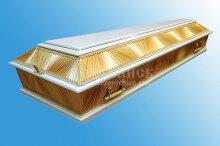 Комбинированный гроб золото с белым