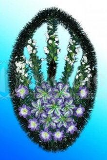 Венок из искусственных цветов №2