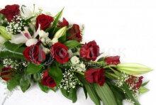 Цветы, гирлянды для возложения (букет №11)