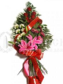 Цветы, гирлянды для возложения (букет №8)