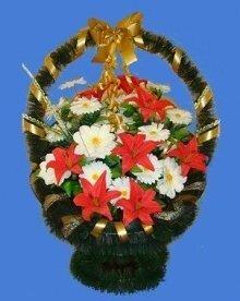 Корзина искусственных цветов  №2