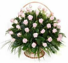 Траурная корзина с цветами (корзина) №6