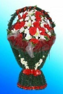 Корзина искусственных цветов №7