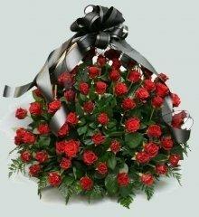 Траурная корзина с цветами (корзина) №7