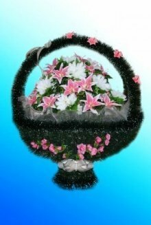 Корзина искусственных цветов №6/2