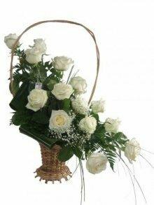 Траурная корзина с цветами (корзина) №3