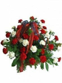 Траурная корзина с цветами №5