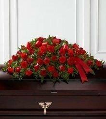 Цветы, гирлянды для возложения (букет №10 90х40 см)