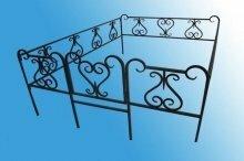 Ограда на могилу (холодная ковка) №4